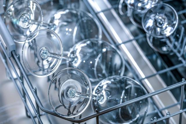 sklenice v myčce